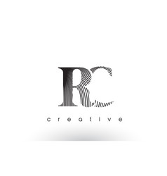 Rc logo design with multiple lines and black and vector