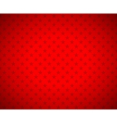 Red stars background vector image