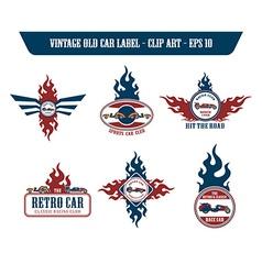Retro car label sticker vector