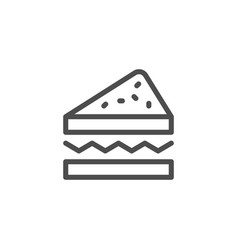 sandwich line icon vector image