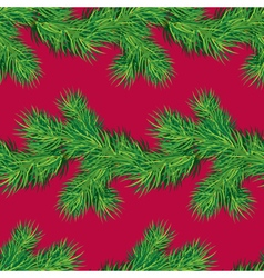 Seamless pattern with Christmas fir tree branch vector image