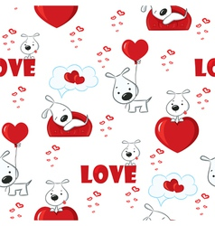 Seamless with dogs vector