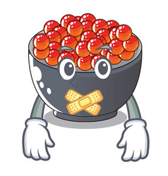 Silent salmon roe with isolated on mascot vector
