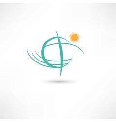Simple planet symbol vector