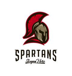 spartan logo sparta logo spartan helmet logo vector image