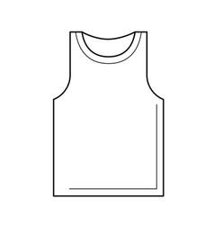 Tank top line icon vector