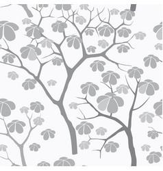 Tree seamless pattern japanese garden background vector