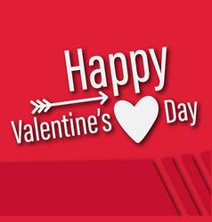 Valentine day arrow happy heart image vector