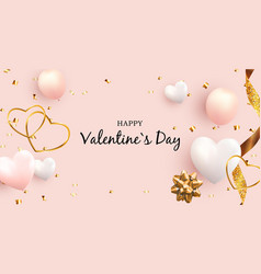 Valentines day love and feelings banner vector
