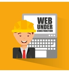 Web page under construction vector