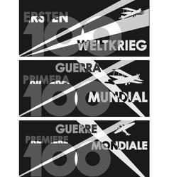 World War One centennial vector
