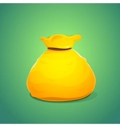 A large bag of gold color vector image