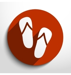 beach sandals web icon vector image vector image