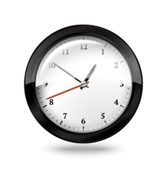 Black office clock isolated on white background vector image