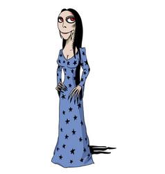Cartoon image of vampire girl vector