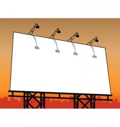Outdoor billboard vector