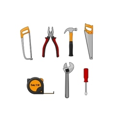 Repair and construction work tools isolated icons vector image