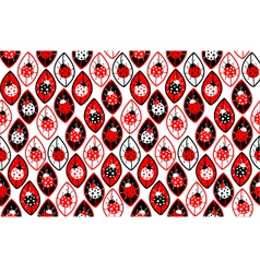Seamless background with ladybirds vector image