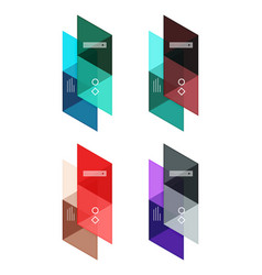 set of blank geometric infographic web vector image vector image