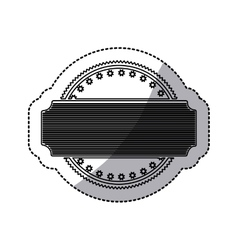 Sticker of circular shape abstract art deco emblem vector