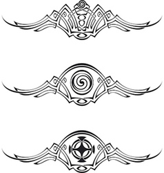 Celtic style patterns vector image