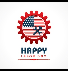Creative happy labor day greeting stock vector image