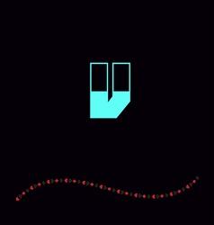 letter V-01 vector image