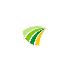 loop stripe business logo vector image vector image