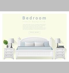 Modern bedroom background interior design 7 vector