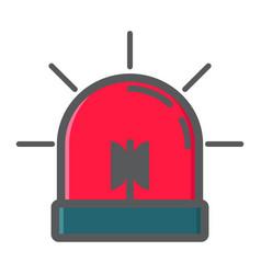 Alarm flasher colorful line icon ambulance vector