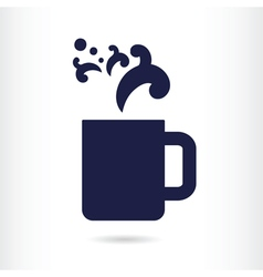office coffee cup vector image vector image