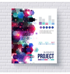 Presentation of a business project vector image