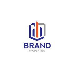 real estate logo concept vector image vector image