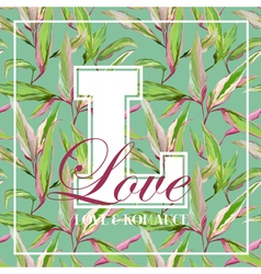 Vintage Tropical Leaves Floral Graphic Design vector image