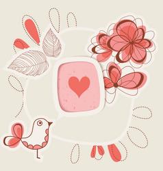 bird singing love vector image