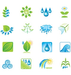 environment set of icons vector image vector image