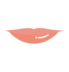 Light colors of silhouette of red lips vector