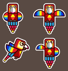 parrot bird abstract cartoon vector image vector image