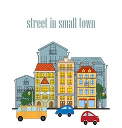 small town vector image vector image