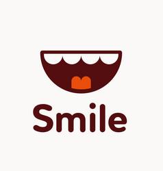 smile logo vector image
