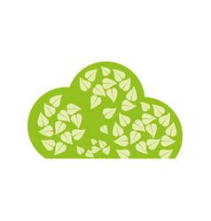 tree organic food emblem image vector image vector image