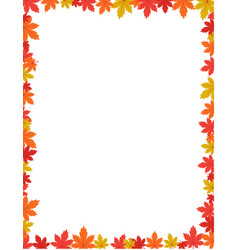 autumn border design vector image