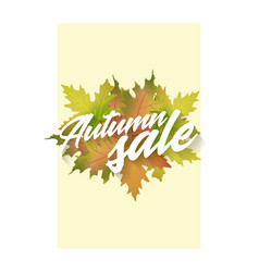 Autumn sale template of poster applicable vector