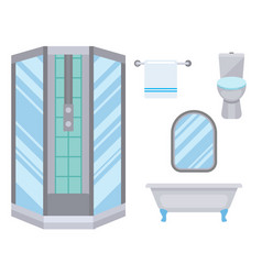 Bath equipment icon toilet bowl bathroom clean vector
