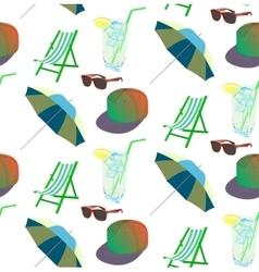 Beach pattern for summer vector