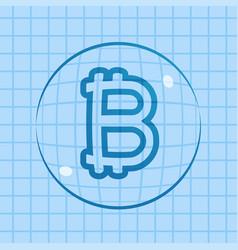 Bitcoin price bubble vector