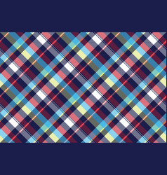 blue check seamless pattern fabric textile vector image