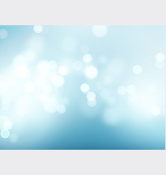 Blue sky with lens flare and bokeh pattern vector