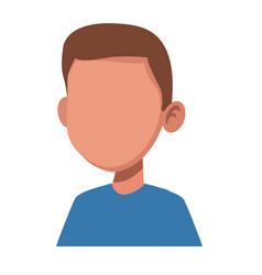 Boy faceless cartoon vector