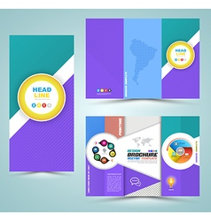 Brochure Layout vector image